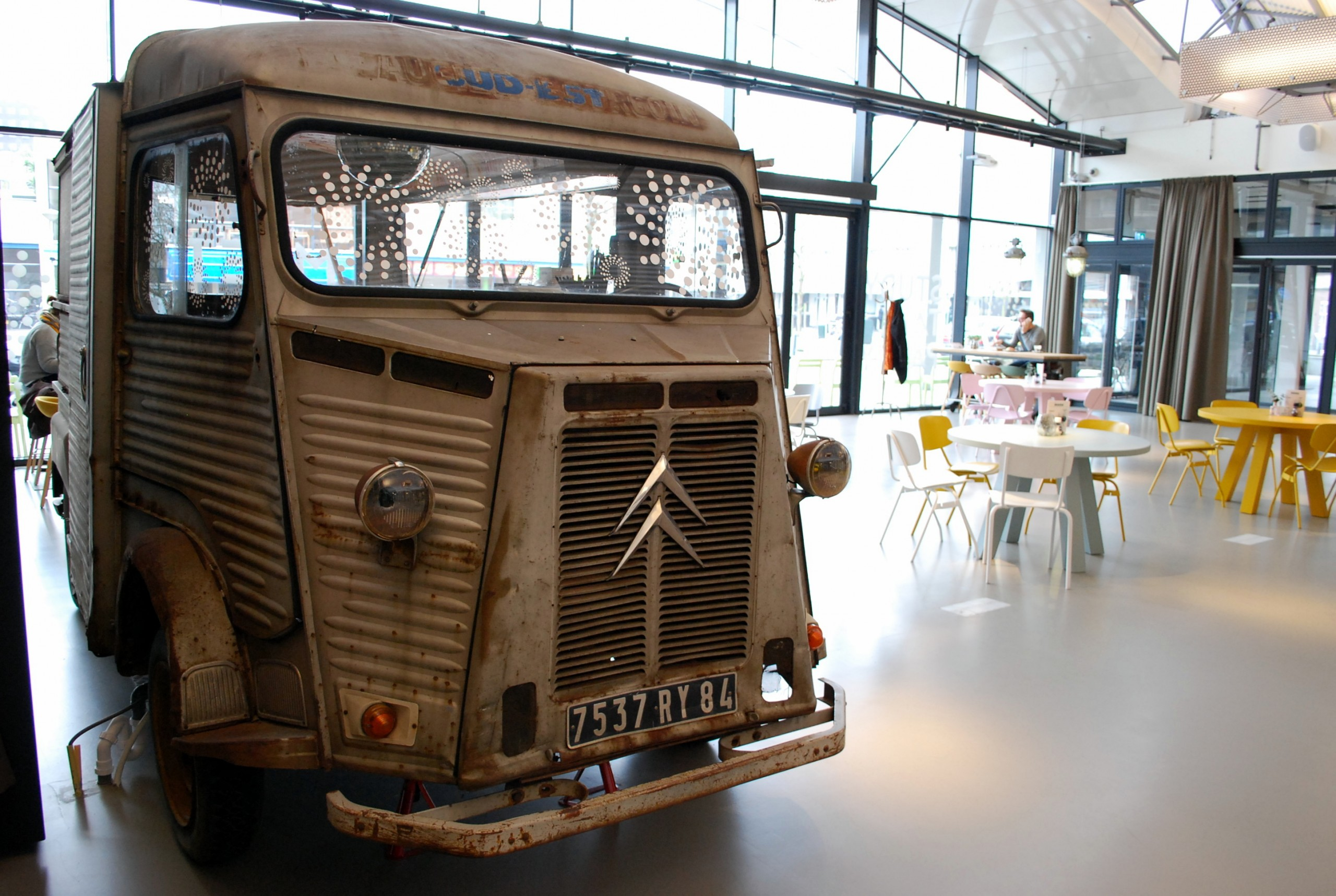 Foodtruck in de lounge