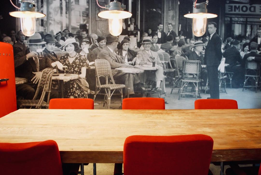 Vintage foto in kantine
