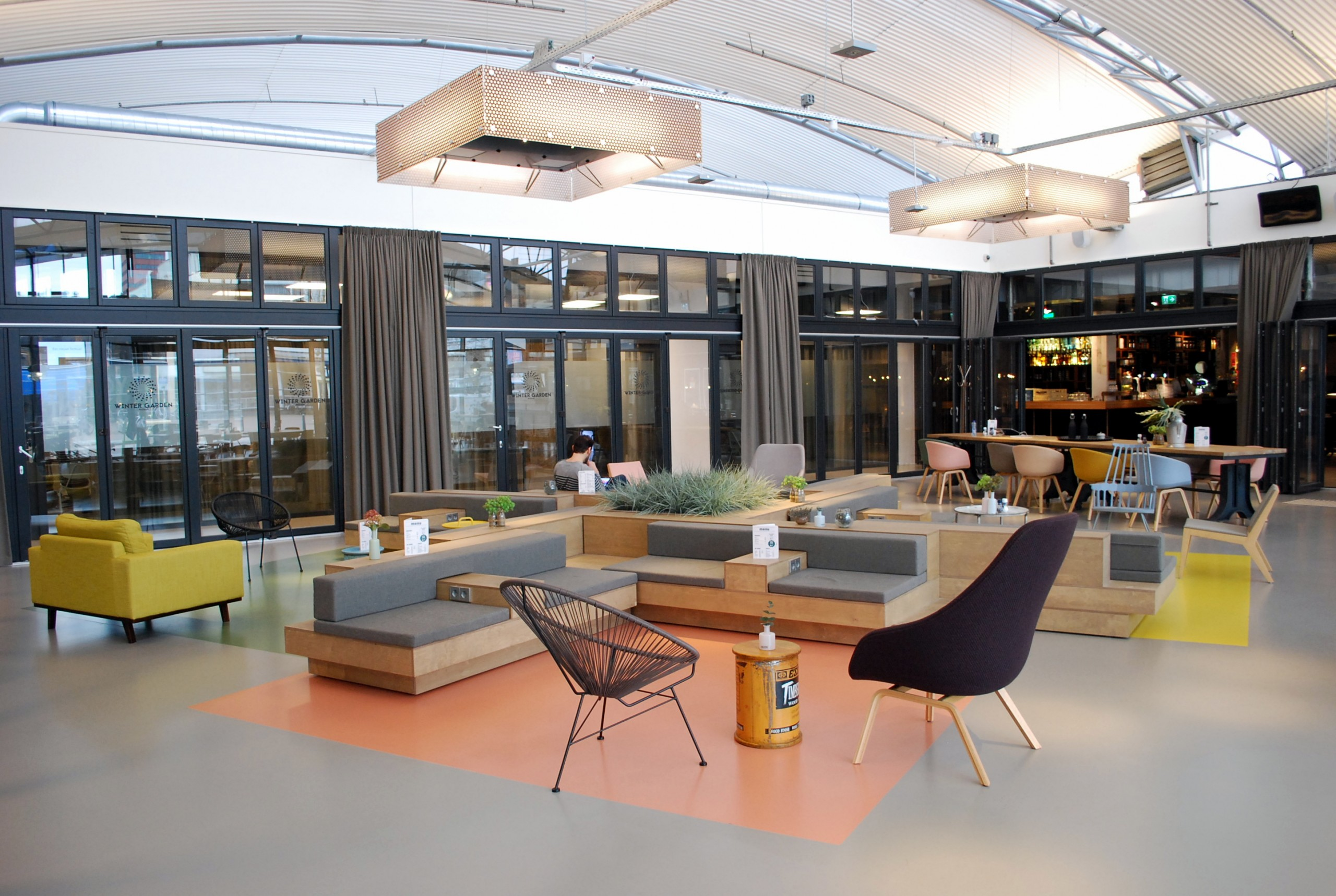 Interieurontwerp lounge Student Hotel The Hague